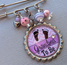 Grandma To Be Mom To Be Aunt To Be PERSONALIZED Bottle by buttonit, $15.50