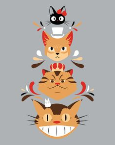 Studio Kitty, Studio Ghibli, Cats, the cat returns, kiki's delivery service, totoro