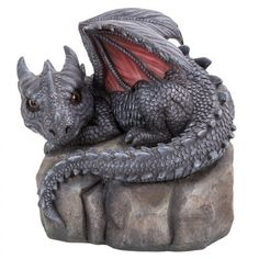 Garden Dragon on Rock Statue at LABEShops, Home Decor, Fashion and Jewelry