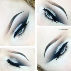 Go for glam and add some silver glitters to your usual smokey eyes. Recreate this look for a perfect night out look.