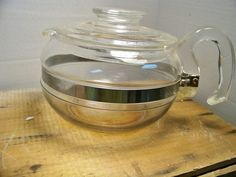 Vintage Pyrex Glass Tea Kettle 8446 6 Cup Complete USA #Pyrex
