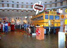 Derailed Diner- Robertsdale AL.  School bus lunch counter