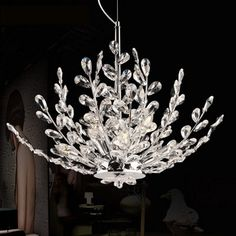 303.75$  Watch now - http://aliv6s.worldwells.pw/go.php?t=32780092430 - Z European Modern LED Crystal Chandelier Branch Crystal Design Bedroom Lighting Fixture Creative Foyer Restaurant Lamps E14 Base 303.75$