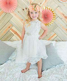Love this White Rhinestone Tulle Dress - Toddler & Girls on #zulily! #zulilyfinds