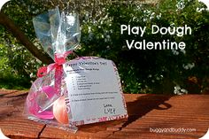 Play dough & cookie cutter valentine w/ recipe~ perfect candy-free classroom valentine!