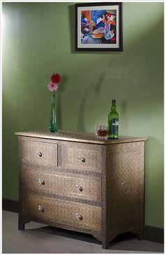 Attractive Metal Furniture In USA Embossed Brass Metal Chest Of  Drawer Sideboard Dresser