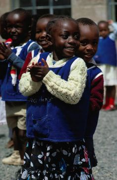 Kindergarten children playing, Nairobi, Kenya
