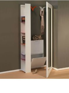 Shoe cabinet with mirror for more shine in the apartment Book Stands, Shoe Cabinet, Design Case, Mudroom, Home And Living, Locker Storage, Entryway, New Homes, Sweet Home