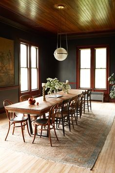 Our Very First Remodel Was a Historic Home Renovation - Architectural Digest Dining Room Decor Dining Room Paint, Dining Room Design, Dining Room Table, Dining Rooms, A Table, Architecture Renovation, Home Renovation, Architecture Design, Luxury Dining Room