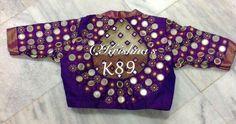 Mirror work blouse from https://m.facebook.com/Krishnaboutiquehyderabad/
