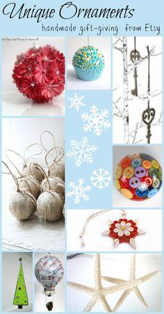 Unique Ornament Ideas #Christmas