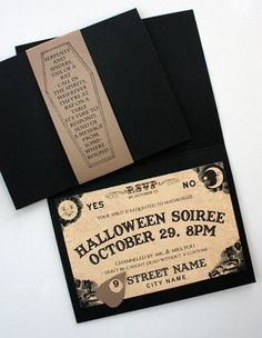 Now comes the most important part of Halloween party planning --- inviting the party monsters.