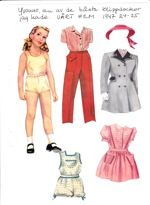 Paper doll from a Swedish magazine, Vårt Hem 1947.