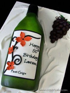 Wine And Grapes Cake