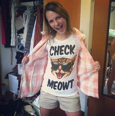 That awkward moment when you know her...or you are her...cause I totally own this shirt thanks to @Melissa Bambrick