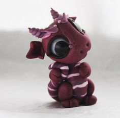 Bitty Baby Dragon with Swirly Horns by BittyBiteyOnes on Etsy