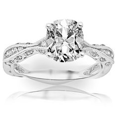 0.81 Carat GIA Certified Cushion Cut / Shape Channel Set Curving Diamond Engagement Ring (E Color , VVS2 Clarity)