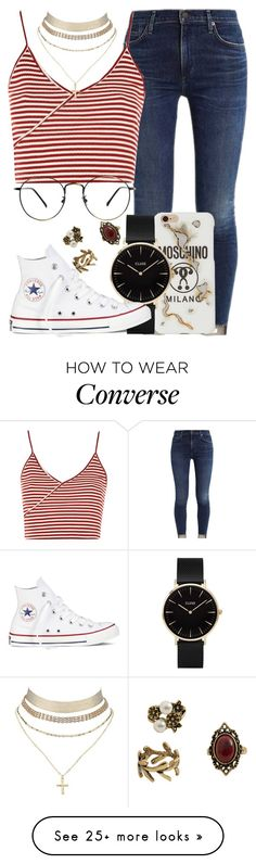 """""""78.5"""" by mallorimae on Polyvore featuring Topshop, Moschino, CLUSE, Converse, Charlotte Russe and MANGO"""