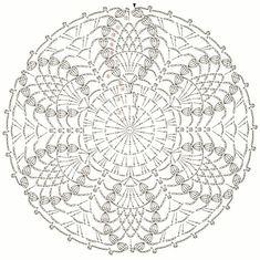 Small round pineapple coaster Napkin I crocheted from cotton thread crochet Koral no. 15 I used crochet needle no. Irish Crochet Patterns, Crochet Doily Diagram, Crochet Symbols, Freeform Crochet, Crochet Stitches Patterns, Crochet Chart, Thread Crochet, Crochet Doilies, Free Crochet