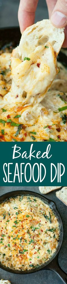 Baked Seafood Dip with Crab, Shrimp, and Veggies