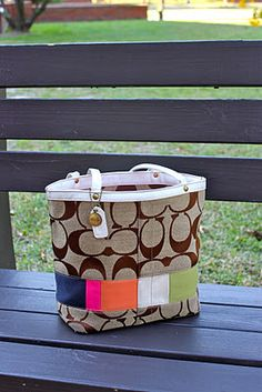 create a camera bag using an old purse