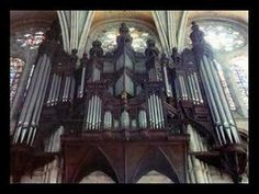 """Pipe Organ Chartres Cathedral Tournemire - Fantaisie-Improvisation on """"Ave Maris Stella"""", recorded in 1981 by Philippe Lefebvre."""