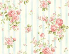 Ellie Ann Wallpaper de rosa por Eleanor Burns por LilyRoseQuilts