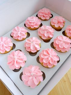 Culinary Couture: Baby Girl Shower Cupcakes