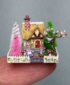 A personal favorite from my Etsy shop https://www.etsy.com/listing/263518027/ooak-handcrafted-miniature-dollhouse