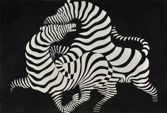 Victor Vasarely, Zebra, 1937. Woodcut print, 52 x 60 cm…
