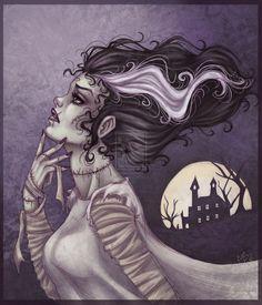 Bride of Frankenstein by *Harpyqueen on deviantART