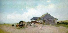 Han - Nicolae Grigorescu Baltic Sea, Abstract Landscape, Art And Architecture, Romania, Painters, New Art, Bun Bun, Buildings, Miniature