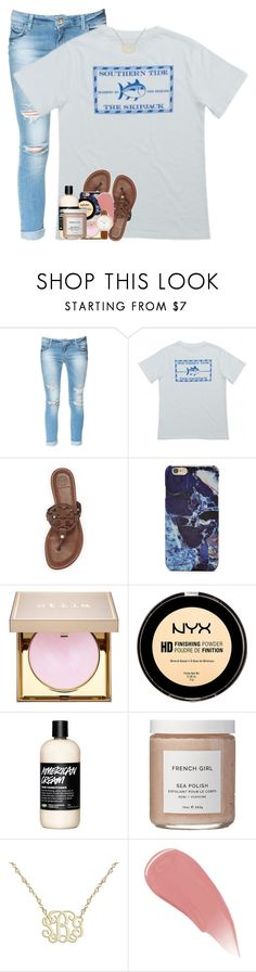 """unstoppable God let your glory go on and on"" by theblonde07 ❤ liked on Polyvore featuring Zara, Tory Burch, Forever 21, Stila, NYX, French Girl, Burberry and FOSSIL"