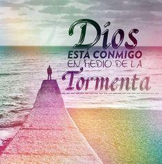 Dios está conmigo enmedio de la tormenta