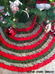 Custom Order | 3 Colored Ruffle Tree Skirt
