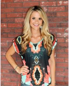 Funky Aztec with scattered stones and turquoise back. 20.99