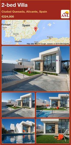 2-bed Villa in Ciudad Quesada, Alicante, Spain ►€224,000 #PropertyForSaleInSpain