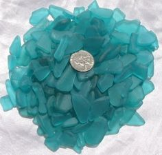 The perfect color sea glass I want to use for center pieces and decor