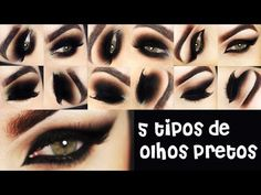 TOP 5 - Os formatos de Olho Preto Esfumado na Maquiagem - Makeup Tutorial