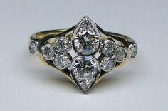 Handmade diamond dress ring