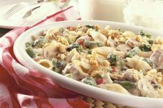 This Tuna Noodle Casserole is an easy, low-fat recipe that is ideal for those with heartburn or acid reflux -- comfort food without the fat.