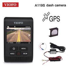 "VIOFO Car DVRs A119S Upgraded V2 2.0"" Super Capacitor Dashcam NT 96660 HD 1080P GPS Car Dash Camera CPL Hardwire Cable Fuse DVR"