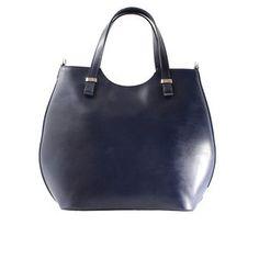 Trendy Blauwe tas van leer De binnenzijde heeft 4 vakken waarvan 2 zijn af  te sluiten. leren tassen online trendywoman 7b5f022285