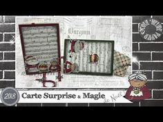 "Coul'Heure Papier: ""Carte Surprise * Magie de Noël"" [Tutoriel] Stampin Up, Windows Movie Maker, Make It Yourself, Frame, Ance, Holiday, Pop Up, Signs, Folded Cards"