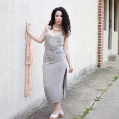 Libertad Green: Milumia Grey Midi dress