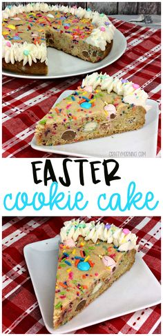 Easter Cookie Cake - Crafty Morning