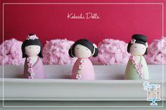 Fondant Kokeshi Cake Toppers! By Sugar High, Inc.