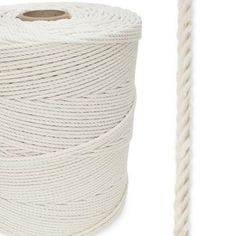 Cotton All Natural x ft Spool - Macrame Rope! At long last, small diameter cotton is now available. This comes in a spool of ft. For a while people have been asking us for a high quality cotton rope. Interior Handrails, Puppy Crafts, Manila Rope, Climbing Rope, Large Dog Breeds, Nickel Plating, Decorative Trim, Curtain Tie Backs