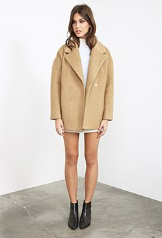 Unstructured Bouclé Topcoat | FOREVER21 - 2055879349 Holiday Gift List- Rocks Fashion Bug Christmas List