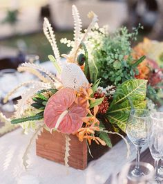Wedding Flowers Ideas - Tropical Table Flowers